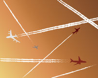 Airplanes. Background.Abstract vector illustration stock illustration