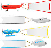 Airplanes with banners Stock Images