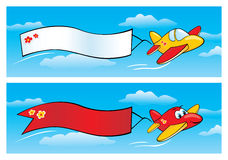 Airplanes with Banners vector illustration