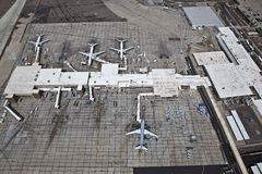 Airplanes, Cargo Terminal Royalty Free Stock Photos