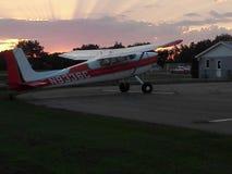 Airplanes. Cessna 180 Harvey North Dakota Stock Image