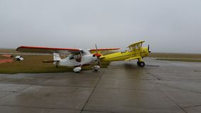 Airplanes. Citabria Stearman Casselton Royalty Free Stock Images