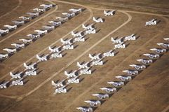 Airplanes at the Davis Montham Air Force Base in Tucson Arizona Royalty Free Stock Photo