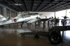Airplanes fighters aircraft war memorial korea Royalty Free Stock Photo