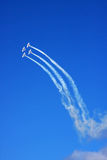 Airplanes fly in the sky Stock Photography