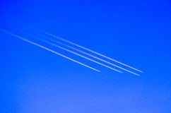Airplanes formation Stock Image