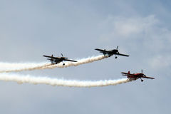 3 Airplanes in Formation Stock Image