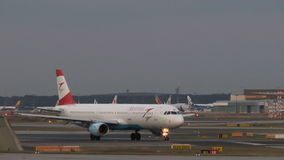 Airplanes at Frankfurt airport stock video footage