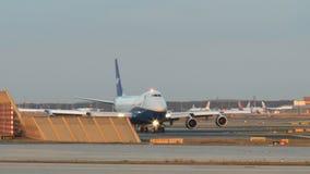 Airplanes at Frankfurt airport stock footage