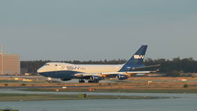 Airplanes at Frankfurt airport stock video