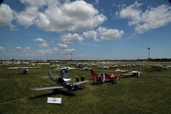 Airplanes galore fill the field at EAA AirVenture Oshkosh Royalty Free Stock Images