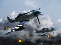 Airplanes (Hawker Sea Fury) un Royalty Free Stock Photography
