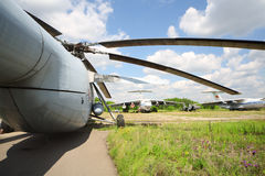 Airplanes and helicopter Stock Photography