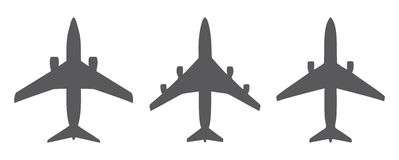 Airplanes icons Stock Photo