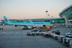 Airplanes at Incheon International Airport ICN in Seoul, South Korea