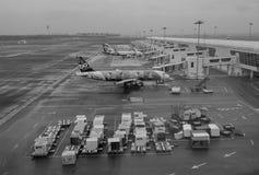 Airplanes in KLIA 2 airport, Malaysia. Airplanes in KLIA 2 airport. Kuala Lumpur International Airport is Malaysia's main international airport and one of the Stock Photo