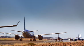 Airplanes lane line royalty free stock photo