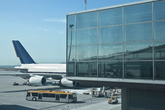 Airplanes loading stock images