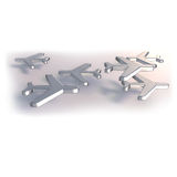 Airplanes made of metal Royalty Free Stock Photo