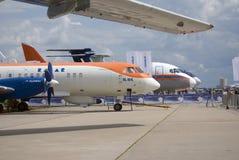 Airplanes at MAKS International Aerospace Salon MAKS-2017 Stock Images
