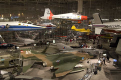 Airplanes in The Museum of Flight Royalty Free Stock Photos