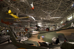 Airplanes in The Museum of Flight Stock Image