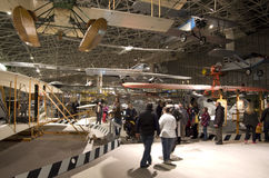 Airplanes in The Museum of Flight Stock Photos