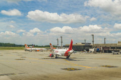 Airplanes Parked at Fortaleza Airport Brasil Royalty Free Stock Photography