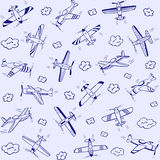 Airplanes pattern Royalty Free Stock Image