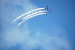 Airplanes performing stunts during Air and Water Show in Chicago, Illinois USA - August 23, 2010 Stock Photography