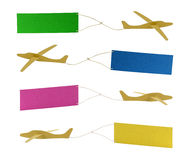 Airplanes pulling colored banners Royalty Free Stock Photo
