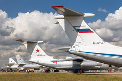 Airplanes of Russian Air Force Stock Image