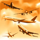 Airplanes royalty free illustration