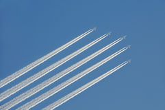 Airplanes in the sky Royalty Free Stock Image