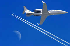 Airplanes in the sky Stock Photography