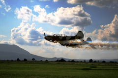 Airplanes skyshow. World war 2 spitfire airplanes Royalty Free Stock Photography