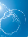 Airplanes Skywriting Stock Images