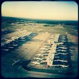 Airplanes at terminal, Atlanta, Georgia Stock Photos