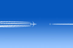 Airplanes about to crash Royalty Free Stock Photography