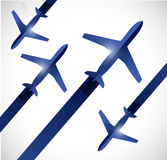 Airplanes traveling illustration design Royalty Free Stock Photos
