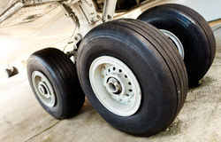 Airplanes undercarriage Stock Photos
