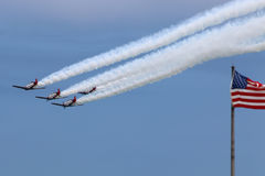 Airplanes with US Flag Royalty Free Stock Photo