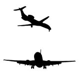 Airplanes. Various Airplanes for passenger transport vector illustration