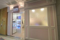 Airplay blow dry bar shop in hong kong Royalty Free Stock Photo