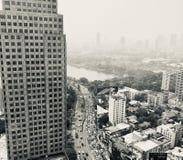Airpolution de Bangkok photographie stock