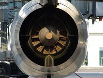 Airport 007. Rearside of an jet engine. Mai 2006 Stock Photography
