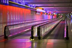 Airport. Munich airport in the night Royalty Free Stock Photos