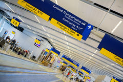 Airport. Arrivals area of an international airport Royalty Free Stock Photography