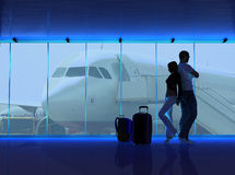 The airport Royalty Free Stock Photography