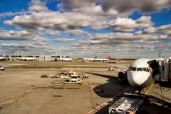 Airport. Work never stops in a big airport Royalty Free Stock Images
